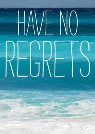 How to successfully deal with regret.