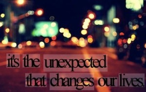 Do this when the unexpected happens in your life